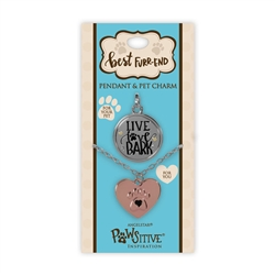 Best Furr-End Pendant & Charm Set-Live Love Bark