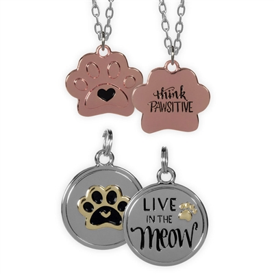 Best Furr-End Pendant & Charm Set-Live in the Meow