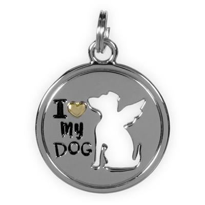 Best Furr-End Pendant & Charm Set-I Love My Dog