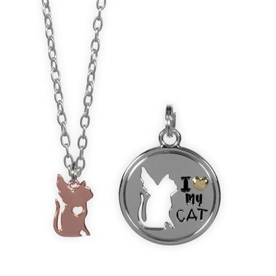 Best Furr-End Pendant & Charm Set-I Love My Cat
