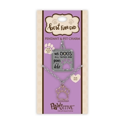 Best Furr-End Pendant & Charm Set-With Dogs All things Are Paws-ible