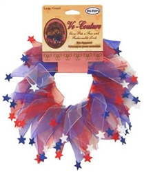 RED, WHITE & BLUE PARTY COLLAR W/STARS MEDIUM