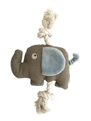 Ellis Elephant Canvas Rope Toy by Simply Fido