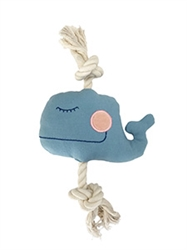 Moby Whale Canvas Rope Toy by Simply Fido
