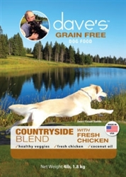 DAVES GRAIN FREE COUNTRYSIDE BLEND CHICKEN 4 LBS