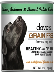 DAVES GRAIN FREE, CHICKEN, SWEET POTATO & QUINOA CASE OF 12 (13.2 OZ)