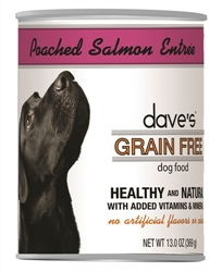 DAVES GRAIN FREE, POACHED SALMON ENTREE CASE OF 12 (13 OZ)