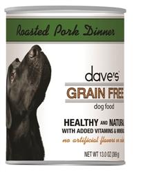 DAVES GRAIN FREE, ROASTED PORK DINNER CASE OF 12