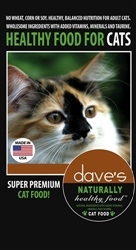 DAVES NATURALLY HEALTHY ADULT CAT FOOD 20 LBS