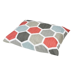 Hexagon Print Pillow Bed