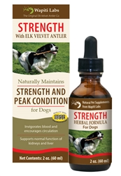 Strength Formula for Dogs with Elk Velvet Antler, 2oz.