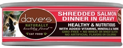 DAVES NATURALLY HEALTHY SHREDDED SALMON IN GRAVY CASE OF 24 ( 5.5 oz )