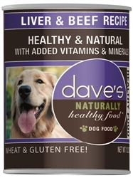 DAVES NATURALLY HEALTHY, LIVER & BEEF CASE OF 12 (13oz)