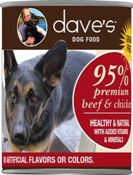 DAVES PREMIUM BEEF & CHICKEN 95% MEAT CASE OF 12 (13oz)