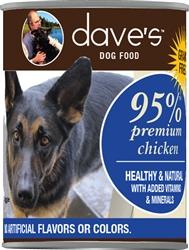 DAVES PREMIUM CHICKEN 95% MEAT CASE OF 12 (13oz)