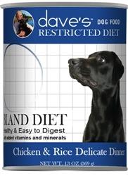 DAVES RESTRICTED BLAND DIET, CHICKEN & RICE CASE OF 12 (13oz)