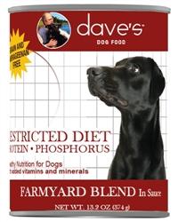 DAVES RESTRICTED PROTEIN DIET, CHICKEN CASE OF 12 (13 oz)