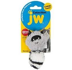 JW PET CAT PLUSH CATNIP SKUNK GREY