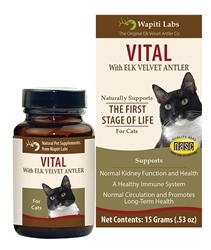 Vital Supplement for Cats with Elk Velvet Antler, 15g Powder