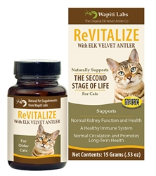 ReVitalize Supplement for Senior Cats with Elk Velvet Antler, 15g Powder