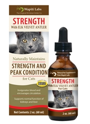 Strength Formula for Cats with Elk Velvet Antler, 2oz.