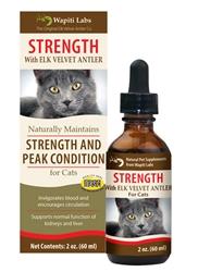 Strength Formula for Cats with Elk Velvet Antler, 2oz.