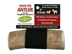 "4"" Whole - Wapiti Labs Elk Antler Chews"