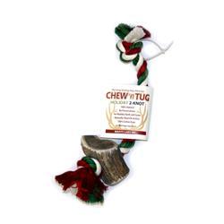 Holiday Elk Antler Chew N Tug 2 Knot