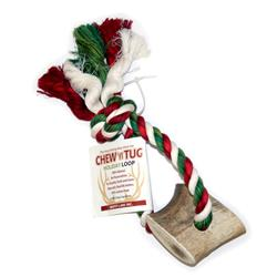 Holiday Elk Antler Chew N Tug Loop