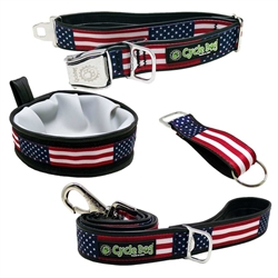 USA Flag 4th of July 30pc Rubber Backed Collar Kit - Stars & Stripes Collection by Cycle Dog