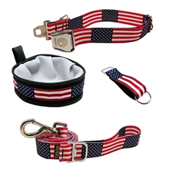 USA Flag 4th of July 30pc Ecoweave Collar Kit - Stars & Stripes Collection by Cycle Dog