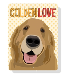"Golden Love sign  9"" x 12""  - Yellow Sign"