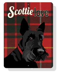 "Scottie Love Sign 9"" x 12"" -  Plaid Sign"