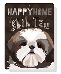 Shih Tzu - Happy Home of a Shih Tzu sign - Chocolate Sign
