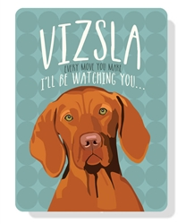 "Vizsla sign  9"" x 12"" - Sea Glass Sign"