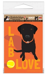 Lab Love (Black Lab) Magnet
