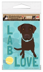 Lab Love (Chocolate Lab) Magnet