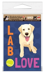 Lab Love (Yellow Lab) Magnet