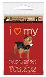 I Love My Yorkshire Terrier Magnet