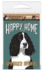 Happy Home of a Springer (Black) Spaniel Magnet