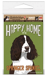 Happy Home of a Springer Spaniel (Brown) Magnet