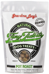 GRANDMA LUCYS DOG FREEZE DRIED TINY TIDBITS POT ROAST TREAT 6 OZ.