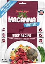 GRANDMA LUCYS DOG MACANNA FREEZE DRIED BEEF TREAT 6 OZ.