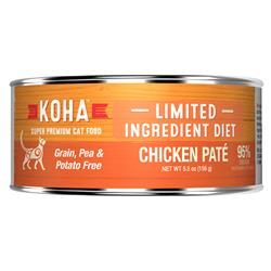 KOHA Chicken Pâté Wet Cat Food - 5.5 oz Cans - Limited Ingredient Diet