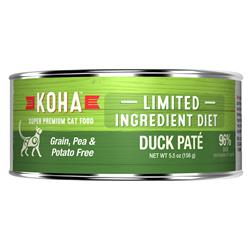 KOHA Duck Pâté Wet Cat Food - 5.5 oz Cans - Limited Ingredient Diet