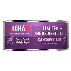 KOHA Kangaroo Pâté Wet Cat Food - 5.5 oz Cans - Limited Ingredient Diet