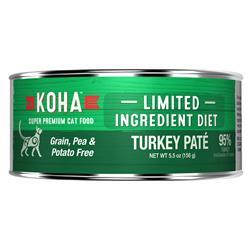 KOHA Turkey Pâté Wet Cat Food - 5.5 oz Cans - Limited Ingredient Diet
