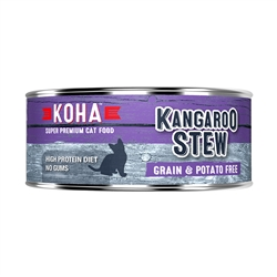 KOHA Kangaroo Stew Wet Cat Food - 5.5 oz cans