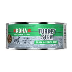 KOHA Turkey Stew Wet Cat Food - 5.5 oz cans