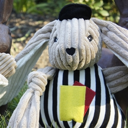 Hugglehounds Plush Durable Referee Knottie Bunny